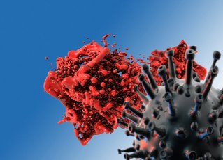 Blood clotting and Covid-19, conceptual illustration