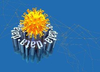 Coronavirus medical data, conceptual illustration