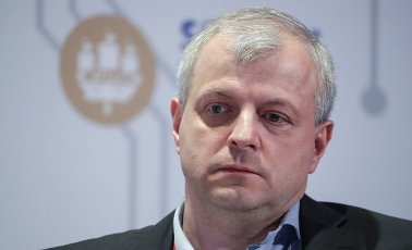 ST PETERSBURG, RUSSIA â JUNE 5, 2021: Airbus Head of Defence and Space in Russia Vladimir Terekhov at the 2021 St Petersburg International Economic Forum (SPIEF), at the ExpoForum Convention and Exhibition Centre. Donat Sorokin\/TASS Host Photo