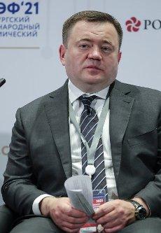 ST PETERSBURG, RUSSIA â JUNE 5, 2021: Promsvyazbank Chairman Pyotr Fradkov at the 2021 St Petersburg International Economic Forum (SPIEF), at the ExpoForum Convention and Exhibition Centre. Donat Sorokin\/TASS Host Photo Agency