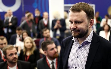 ST PETERSBURG, RUSSIA â JUNE 5, 2021: Russia\'s Presidential Aide Maxim Oreshkin at the 2021 St Petersburg International Economic Forum (SPIEF), at the ExpoForum Convention and Exhibition Centre. Valery Sharifulin\/TASS Host Photo Agency