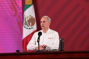 EUM20200814NAC01.JPG CIUDAD DE MÉXICO. Health\/Salud-Coronavirus.- 14 de agosto de 2020. Hugo López-Gatell, subsecretario de Prevención y Promoción de la Salud, durante la conferencia nocturna sobre el Coronavirus en México. Foto: Agencia EL UNIVERSAL\/EELG