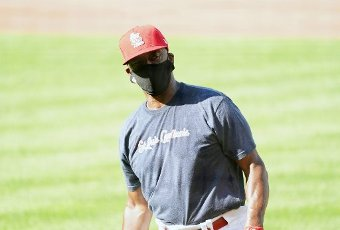 St. Louis Cardinals coach and former centerfielder Willie McGee, shown in this August 6, 2020 file photo, has opted out of the remainder of the 2020 season it was learned on August 14, 2020. McGee, who says he is concerned about his family and health, has opted out of the remainder of the season and does not have COVID-19, but is 61 and has high blood pressure. File Photo by Bill Greenblatt