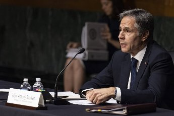 Secretary of State Antony Blinken testifies on the State Department\'s fiscal year 2022 budget request during a Senate Foreign Relations Committee hearing on Capitol Hill in Washington, DC on Tuesday, June 8, 2021. Photo by Tasos Katopodis