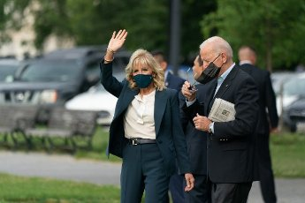 United States President Joe Biden and first lady Dr. Jill Biden depart the White House from the Ellipse in Washington, DC, on Wednesday, June 9, 2021. Biden will be in Europe for a week. Photo by Chris Kleponis