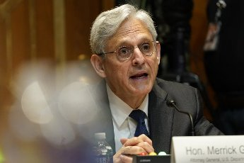 Attorney General Merrick Garland testifies before the Senate Appropriations Subcommittee on Commerce, Justice, Science, and Related Agencies during a hearing at the U.S. Capitol in Washington DC, on Wednesday, June 9, 2021. Pool photo by Susan Walsh