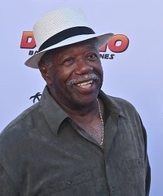 """Cast member Lou Beatty Jr. attends the premiere of the motion picture comedy """"Domino: Battle of the Bones"""" in Los Angeles on Wednesday, June 9, 2021. """"Domino: Battle of the Bones"""" is a feel-good comedy about an elderly black man who teams up with his awkward, white step-grandson to defeat his rival in a domino tournament. Photo by Jim Ruymen"""