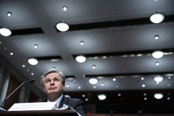 FBI Director Christopher Wray testifies before the House Judiciary Committee at the U.S. Capitol in Washington DC, on Thursday, June 10, 2021. The committee heard testimony about the newly released report on the January 6 Capitol attack. Photo by Sarah Silbiger