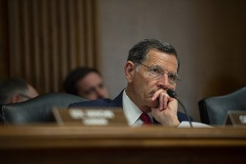 Ranking Member of the Senate Energy and Natural Resources Committee Senator John Barrasso, R-WY, sits in during a hearing on the Department of Energy\'s proposed budget for the 2022 fiscal year in Washington, DC., on Wednesday, June 10, 2021. Photo by Bonnie Cash\/UPI