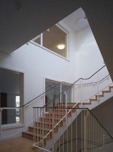Interior stairway. Watford Music Centre, Watford, United Kingdom. Architect: Tim Ronalds Architects, 2008
