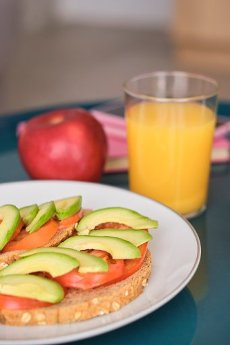 Healthy breakfast served in plate on table at home