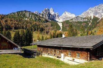 Rustic farmhouse in Dachstein Mountains