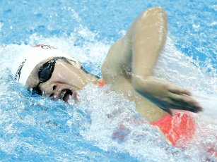 (201001) -- QINGDAO, Oct. 1, 2020 (Xinhua) -- Zhang Ke of Hebei competes during the women\'s 400m freestyle final at the 2020 Chinese National Swimming Championships in Qingdao, east China\'s Shandong Province, Oct. 1, 2020. (Xinhua\/Chen Jianli