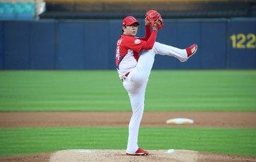 Tigers starting pitcher Kia Tigers starter Yang Hyeon-jong throws a pitch against the Kia Tigers at a Korea Baseball Organization league match in Daegu, 300 kilometers southwest of Seoul, on July 16, 2020. (Yonhap)\/2020-07-16 22:19:33\/ < 1980-2020 YONHAPNEWS AGENCY.